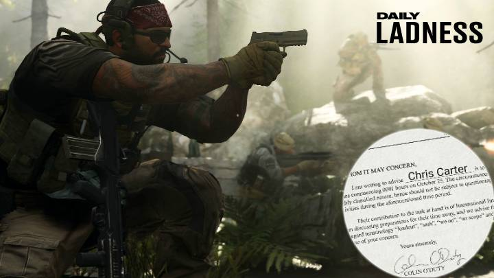 Man Sends Boss Letter Asking To Be Excused From Work For Call Of Duty Release
