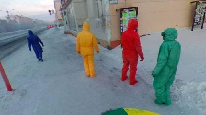 Google Maps Users Spot Real-Life Teletubbies Walking Down Russian Street