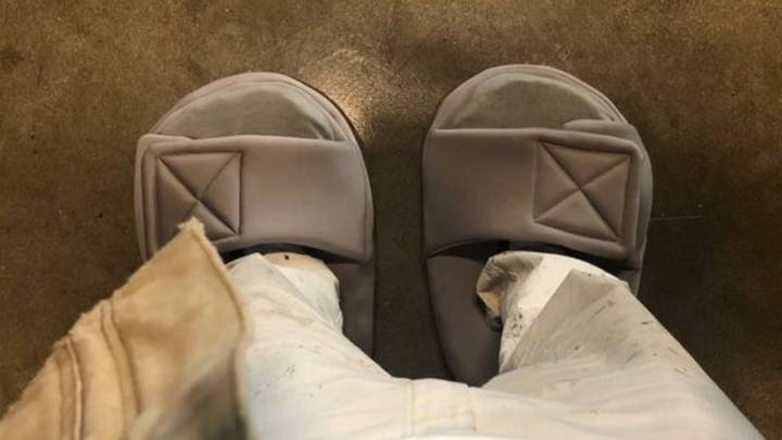 Kanye West Trolls Himself Over 'Too Small' Slides
