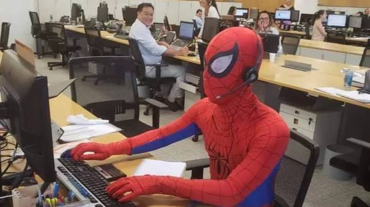 Man Quits Job At Bank And Turns Up In Spider-Man Costume On Last Day