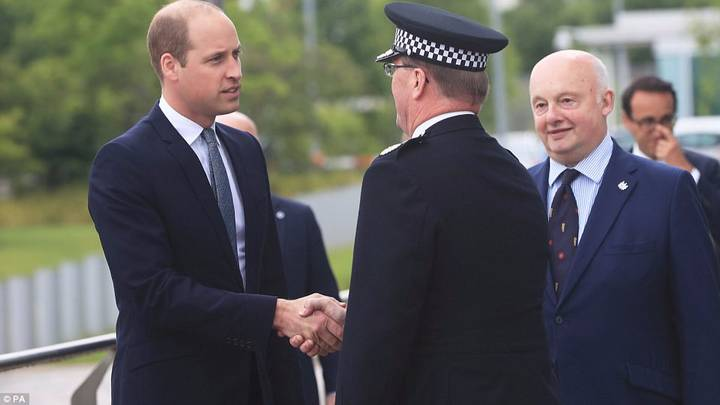 Prince William Visits Manchester To Meet The Heroic Emergency Services