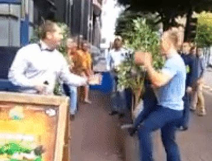 Two Irish Lads Take On Pub Bouncer, End Up Eating The Pavement