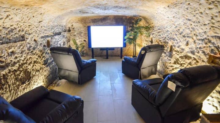 Two-Bedroom Flat Has Hidden Basement Cinema Room