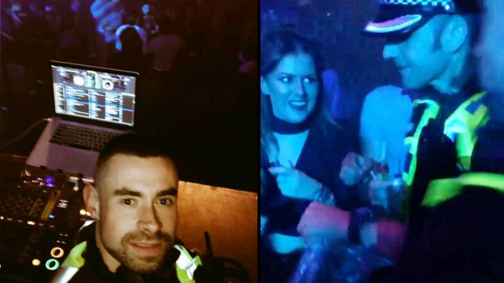 Policeman Surprises Clubbers By Popping Up In DJ Booth