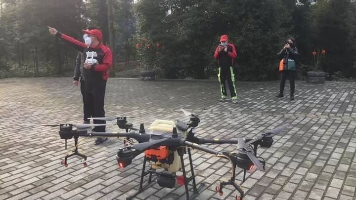 Drones Are Being Re-purposed To Spray Disinfectant In Coronavirus-Hit China