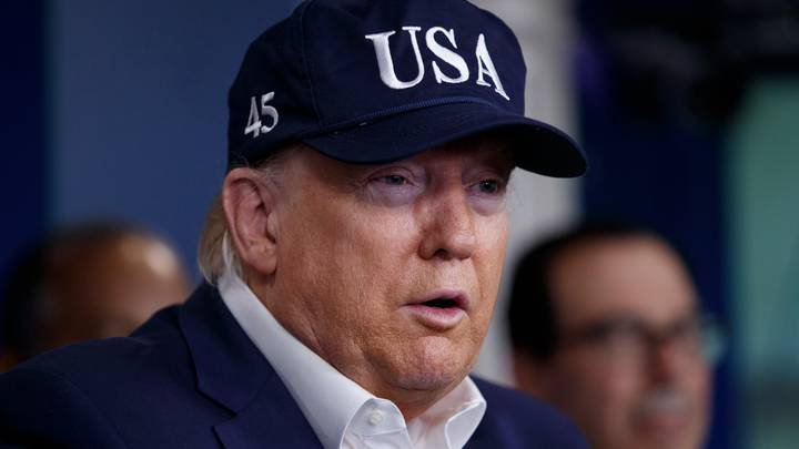 US President Donald Trump Tells Americans To Stop Stockpiling