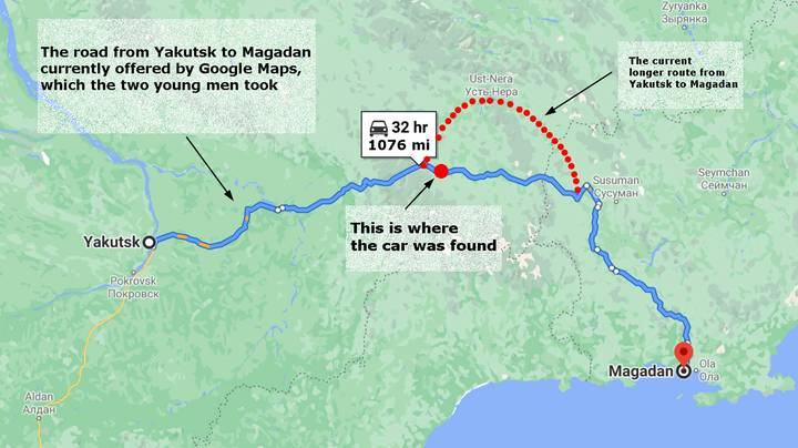 Google Maps Changes Route On Road After Driver Freezes To Death In -50C Temperatures