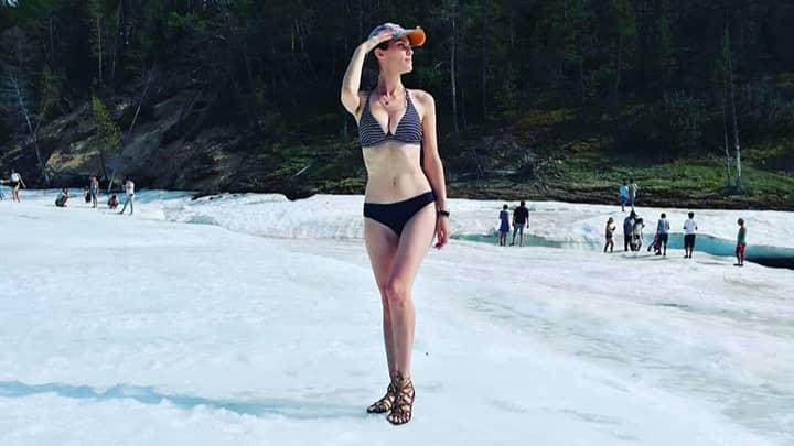 Locals Near World's Coldest City Flock To Stunning Beach On A Glacier