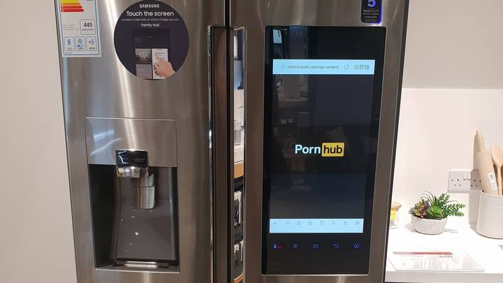 Shoppers Shocked As Pornhub Displays On £2,000 Fridge