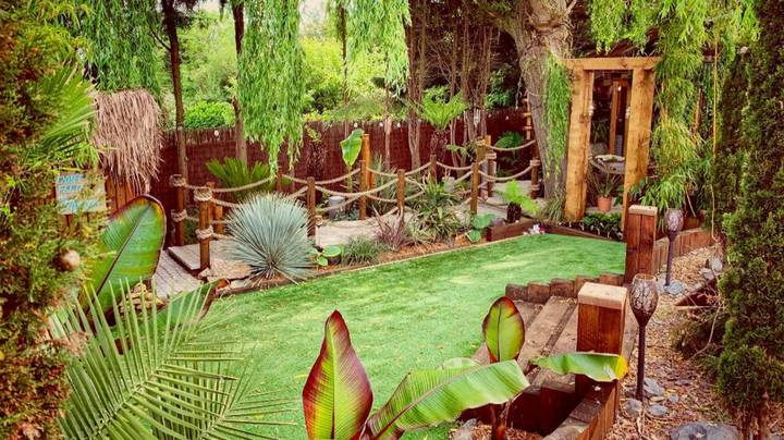 Bloke Builds Incredible £35,000 Tiki Garden For Wife As They're Unable To Get Away