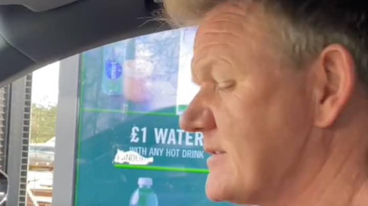 Gordon Ramsay Winds Up Starbucks Worker At Drive-Thru