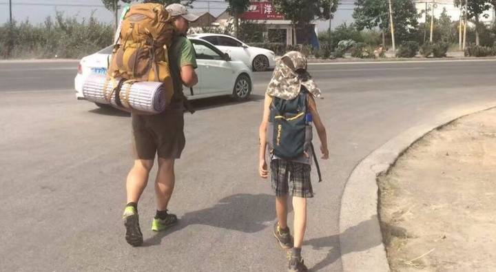 This Amazing Dad Took His Son Backpacking With Just £11.50 To Teach Him To Be Humble