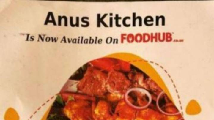 Error Leaves Customers Ordering Takeaways From The 'Anus Kitchen'