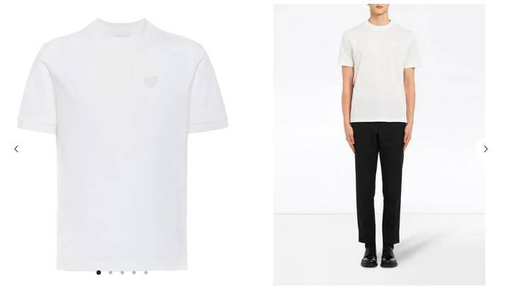 Shoppers Outraged At Website Selling Plain White Prada T-Shirt For £270