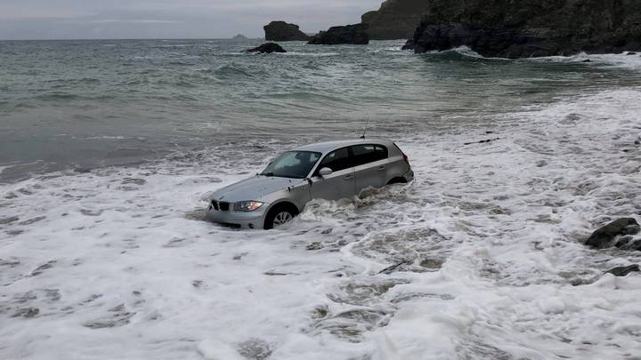 BMW Swept Into Sea After Being Left Parked On Beach