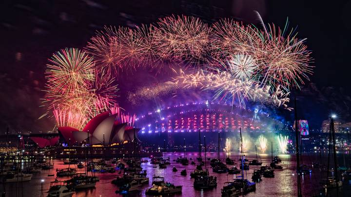 Australia Welcomes In 2020 With Sydney Fireworks Display