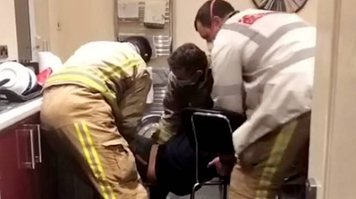 Student Is Rescued By Firefighters After Getting Stuck In Tumble Dryer