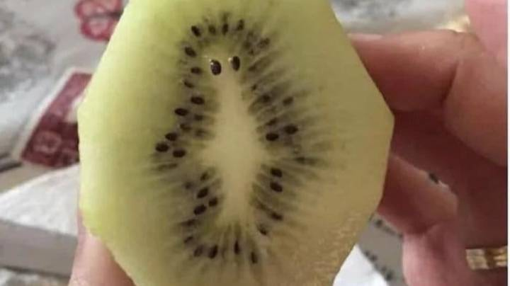 Person Finds 'Alien Mr Burns' In Their Kiwi Fruit