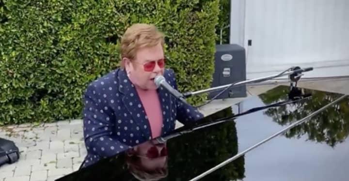 Sir Elton John Performs I'm Still Standing In His Garden For One World Coronavirus Concert