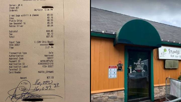 People Leaving Restaurant Bad Reviews After Bartender's $16,000 Tip Gets Split Between Staff