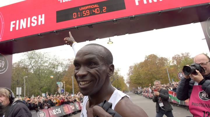 Eliud Kipchoge Becomes First Athlete To Run Marathon In Under Two Hours
