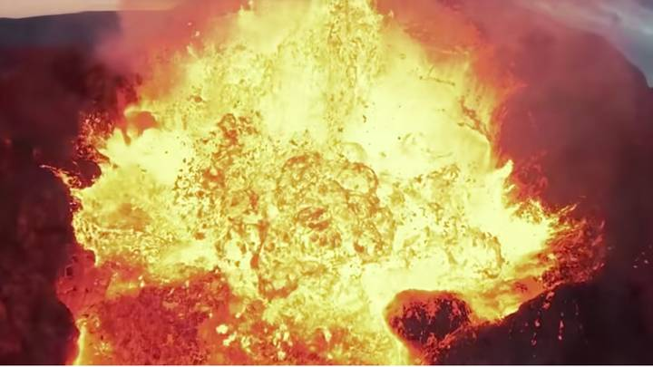 Footage Shows Moment Drone Crashes Into Volcanic Eruption