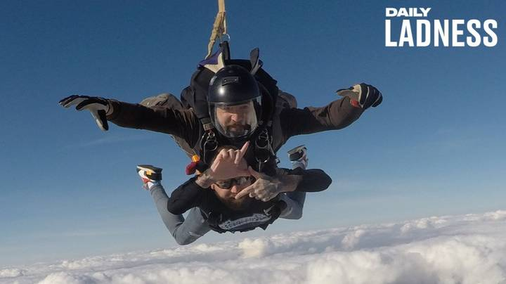 Man Faces Fear Of Heights By Skydiving To Raise Money For His Terminally Ill Stepson