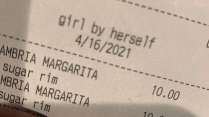 Woman Calls Out Barman For Describing Her As 'Girl By Herself' On Receipt