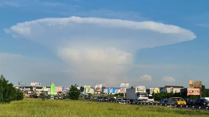 Huge Mushroom Cloud Fills Sky In Kiev, Some 60 Miles From Chernobyl