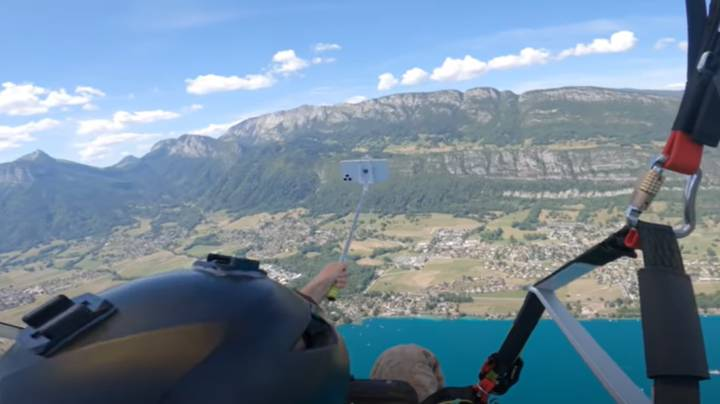 Paraglider Drops Brand New iPhone From 5,000ft While Taking Selfie