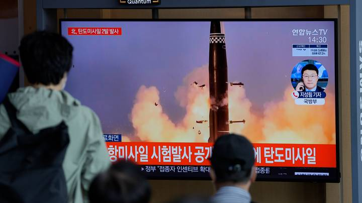 North Korea Launches Two Ballistic Rockets Towards Japan's Cost
