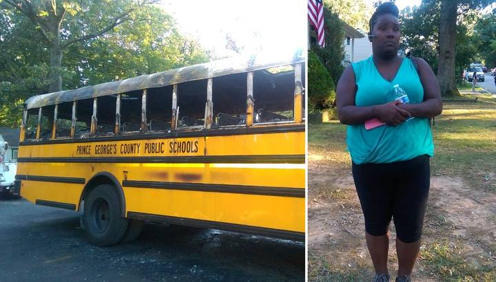 Hero Driver Pulls 20 Children From Her Schoolbus While It Was On Fire