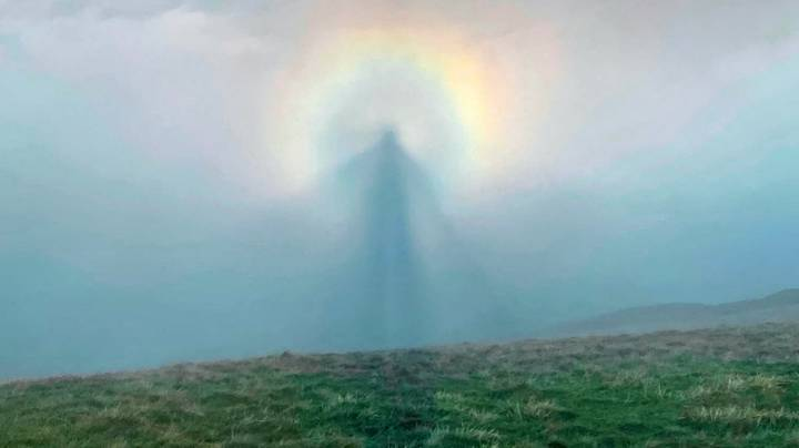 Hiker Captures Rare Phenomenon That Looks Like An Angel In The Clouds