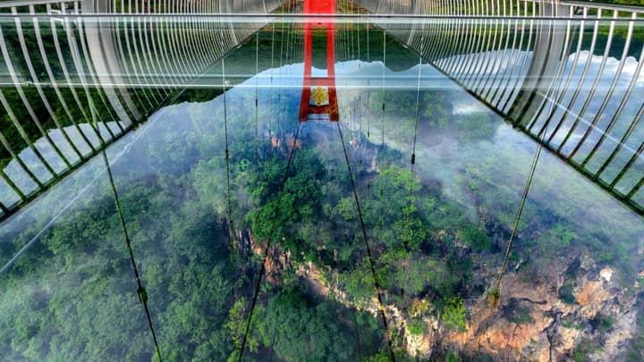 Record-Breaking Full Glass Bridge Opens In China