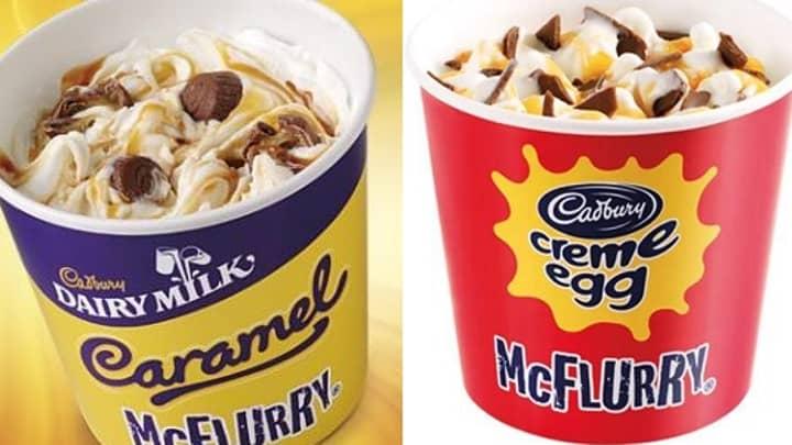 McDonald's Is Bringing Back Crème Egg And Caramel McFlurries