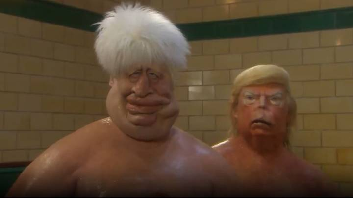 Spitting Image Trailer Shows Boris Johnson, Donald Trump And Vladimir Putin Battle In Sauna