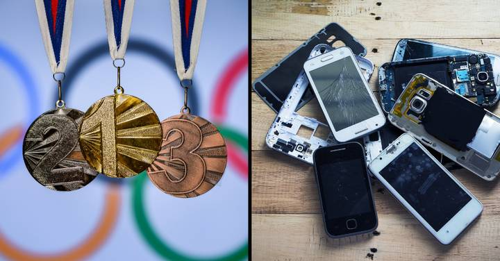 Your Old Phone Could Help Make An Olympic Medal Using Recycled Gold