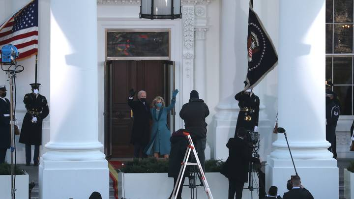 Joe And Jill Biden Left Standing In The Cold After White House Door Mix-Up