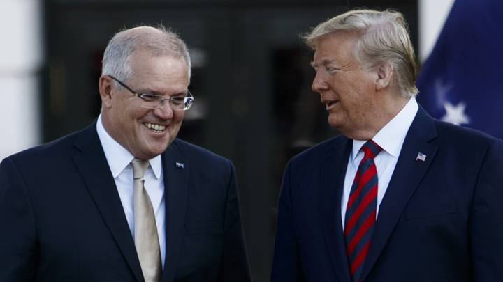 Australian Labor Party Cops Huge Backlash For Posting Scott Morrison And Donald Trump Photo