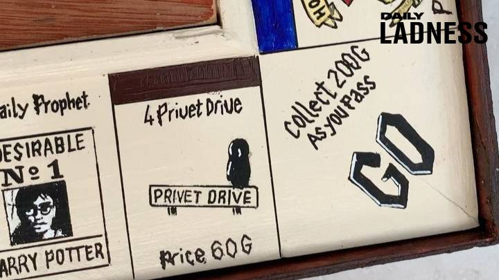 Man Builds Incredible Monopoly Set For His Harry Potter Obsessed Girlfriend