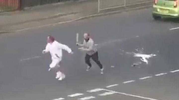 Machete-Waving Thug Chases Man Down Glasgow Street In Broad Daylight