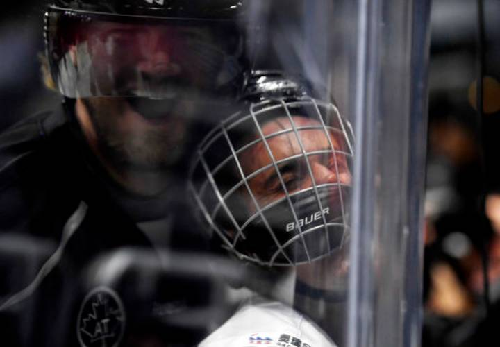 Justin Bieber Got Crushed Into Some Glass During A Game Of Hockey