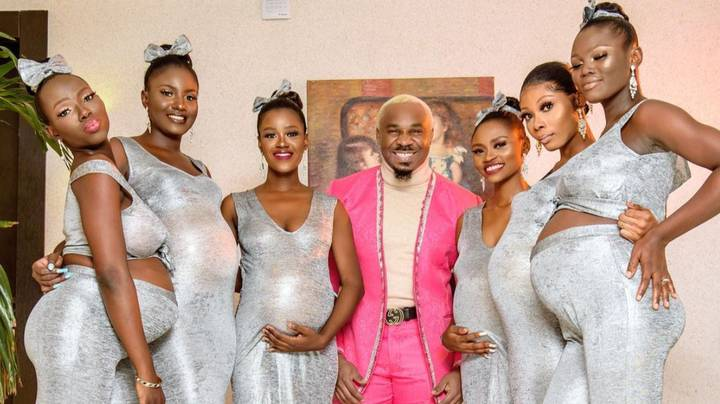Nigerian Playboy Shows Up To Wedding With Six Pregnant Plus-One Dates