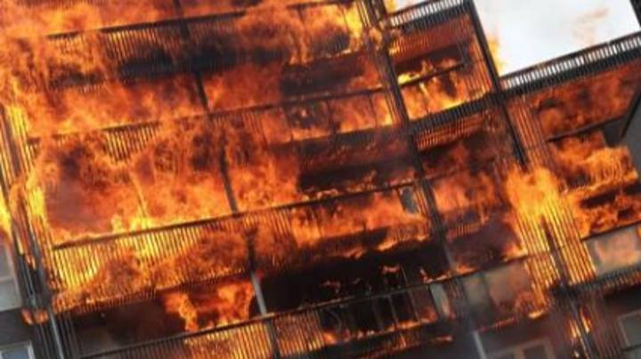 Huge Fire Breaks Out At Block Of Flats In London