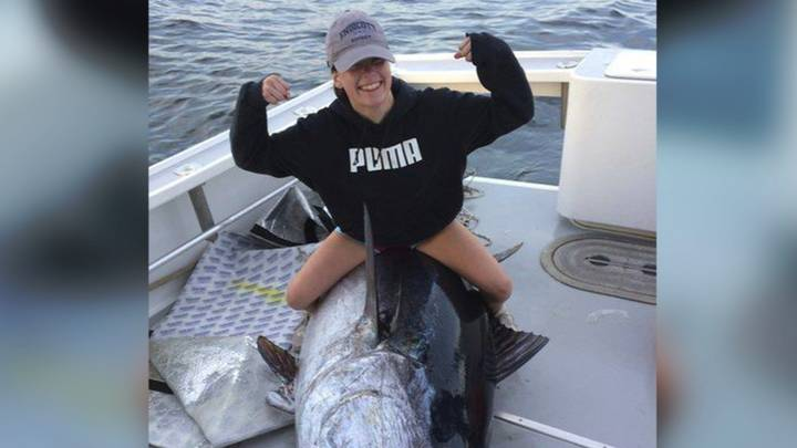 Teen Catches 700-Pound Tuna After 10 Hour Battle