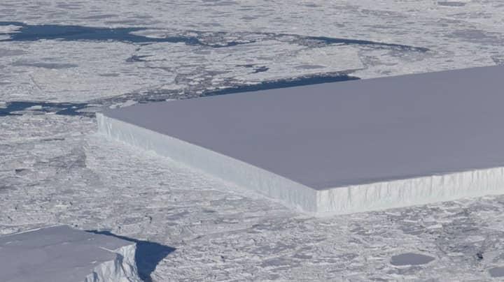 NASA Discover Mysterious Looking Iceberg In Antarctica