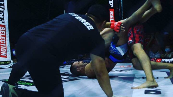 MMA Referee Chokes Fighter After He Refuses To Release Tapping Opponent