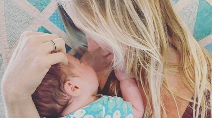 One-Armed Surfer Bethany Hamilton Uses Feet To Change Her Son's Diapers