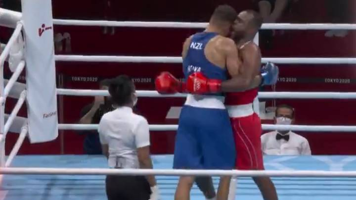 Moroccan Boxer Tries To Bite Opponent's Ear At Tokyo Olympics