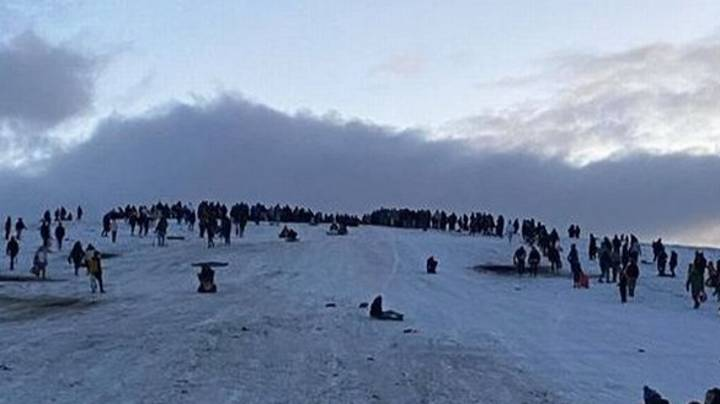 Hundreds Filmed Drinking In The Snow In Breach Of Covid Rules